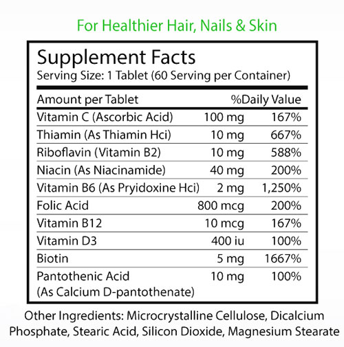 Miraclemed Biotin Forte Ingredients